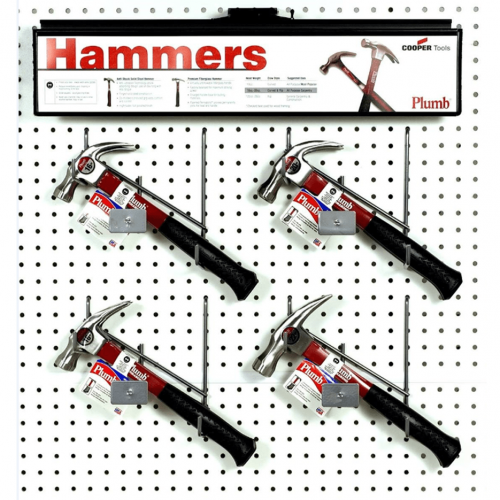 Curved and Rip Claw 8-Piece Steel Hammer Polished Face Set w/ Display - Fiberglass Handle w/ Comfort Grip
